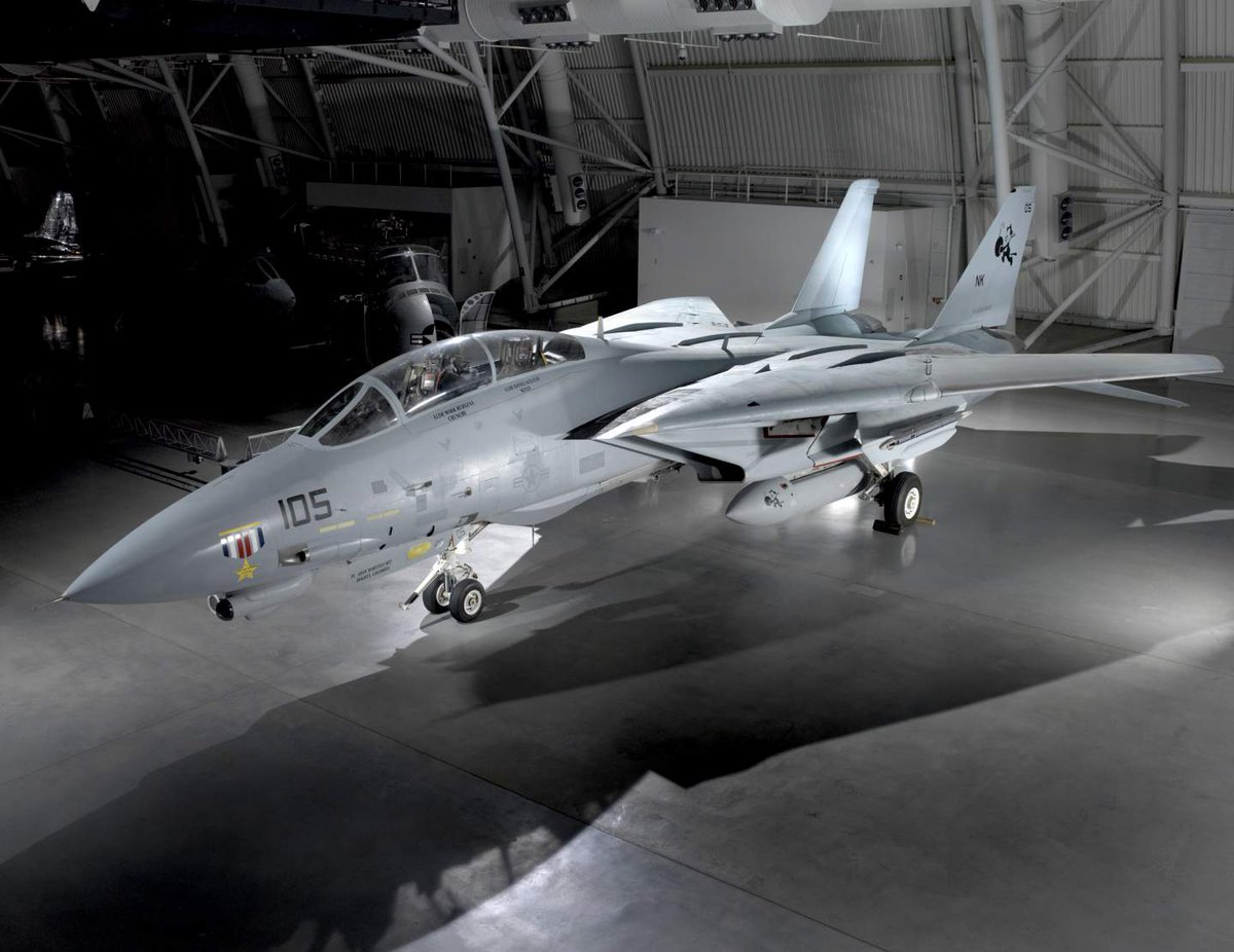 Today in 2006, the U.S. Navy retired the Grumman F-14 Tomcat. You can see a F-14D(R) in our collection at our Udvar-Hazy Center: s.si.edu/2NkyeP6