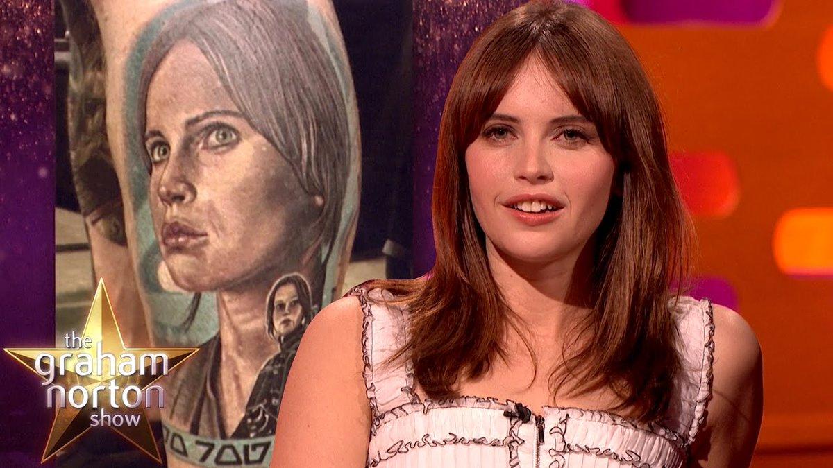 Felicity Jones is Worried About Fan Tattoos - The Graham Norton Show - https://t.co/b1liMnafpP #GrahamNorton #comedy https://t.co/unZGgZaI7f