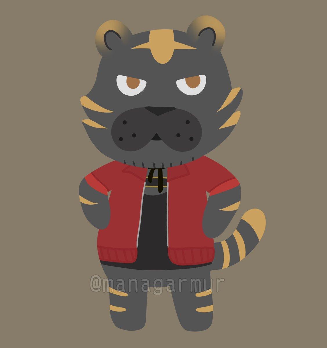 Touken Ranbu X Animal Crossing🍃 Tiger Nagasone for @itsukisser !