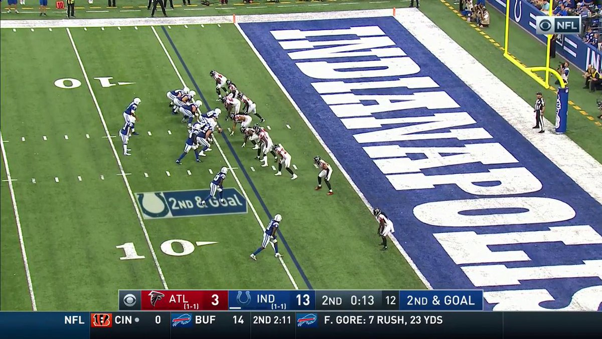 Seeing ghosts in the end zone again. 👻 #ATLvsIND