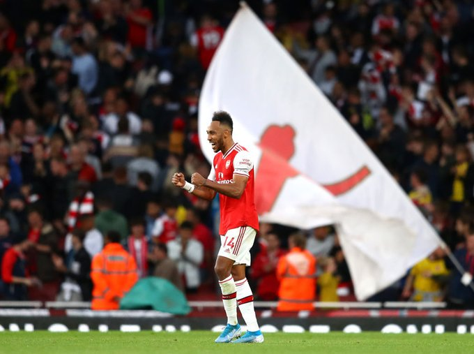 Aubamenyang has seven goals in seven matches this season across all competitions. #Arsenal<br>http://pic.twitter.com/OA0qTqL44I