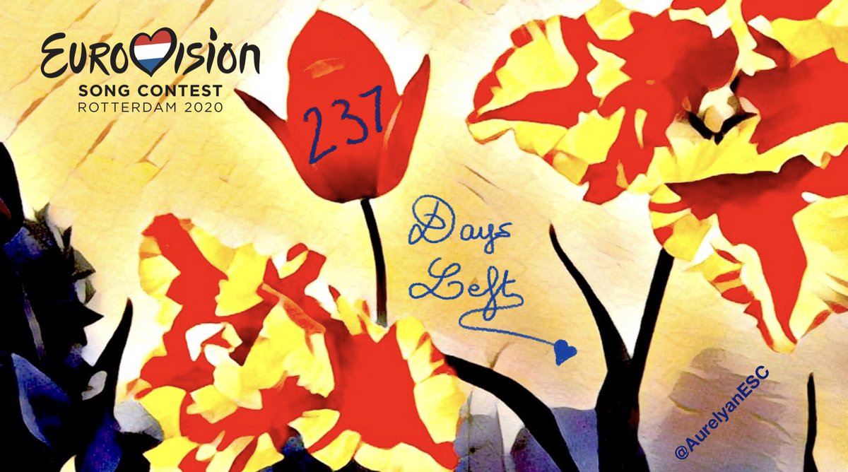 🌷 #Eurovision Countdown: 237 Days Left! #TheNetherlands 🇳🇱