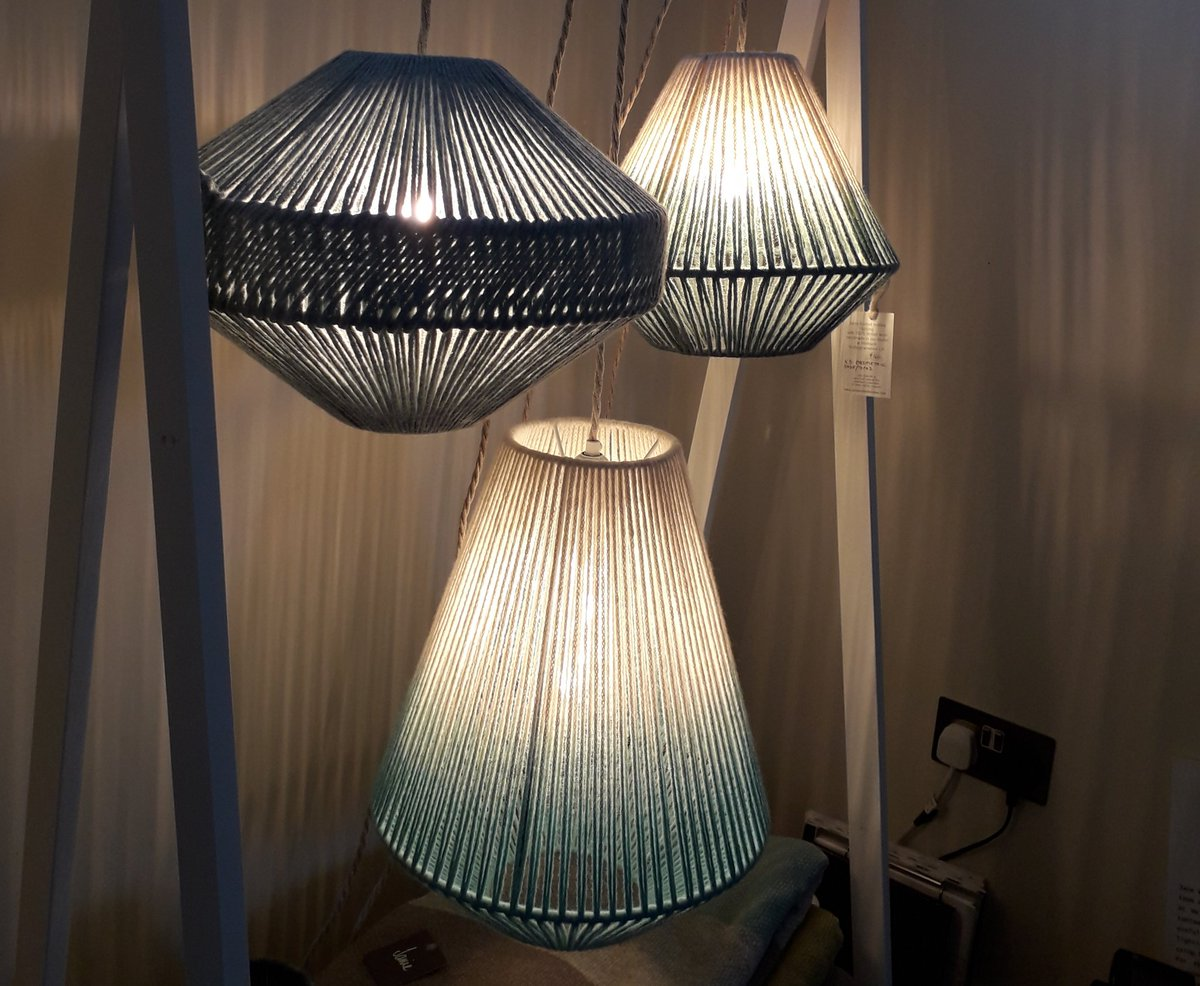 our British and merino wool lighting is available in many different shapes and sizes  http://www. janieknittedtextiles.com     #HandmadeHour #UKCraft <br>http://pic.twitter.com/WK475XZUUL
