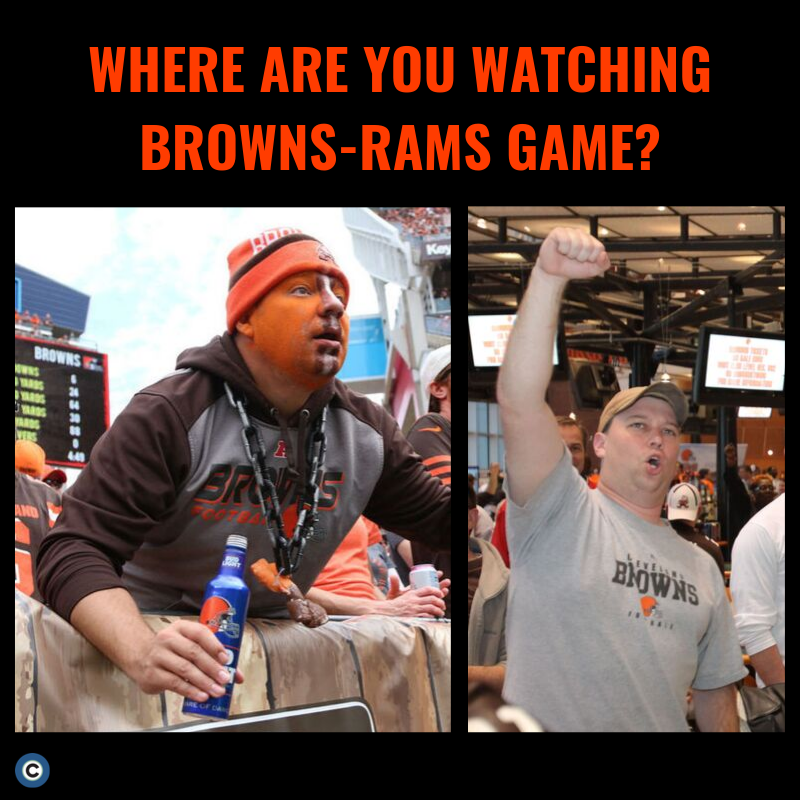 The stadium? House party? Sports bar? We want to know where you're cheering on the Browns in prime time. Bonus for posting a photo in the comments! Photos: David Petkiewicz, Thomas Ondrey