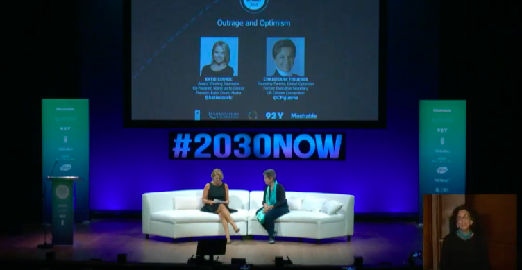 Here's @CFigueres discussing outrage and optimism with @katiecouric #2030NOW
