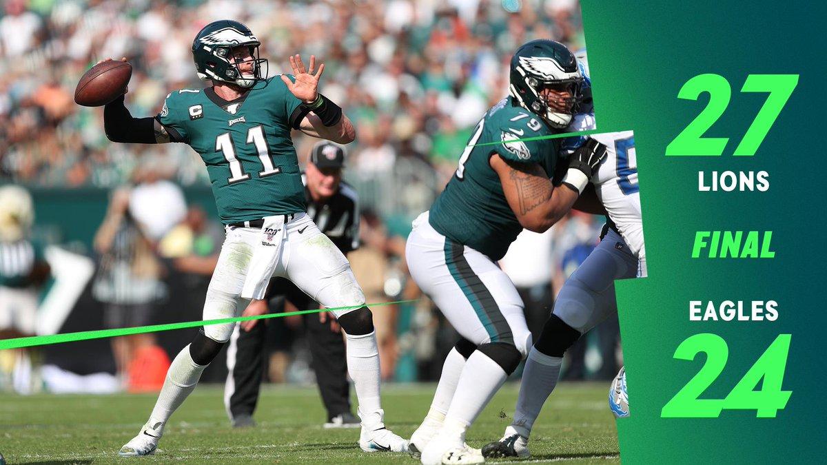 Final score from Philadelphia  #DETvsPHI | #FlyEaglesFly <br>http://pic.twitter.com/rxx0ks2G5c