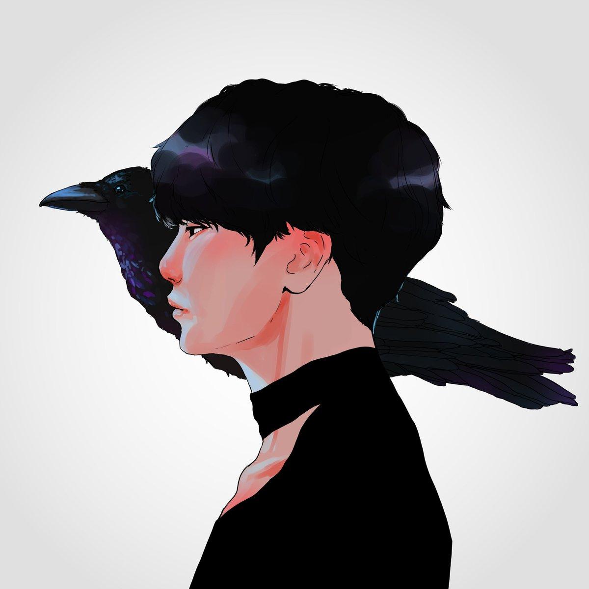 I decided to redraw my first ever drawing of yoongi ahh #yoongi #btsfanart<br>http://pic.twitter.com/2kjwV3vRIj