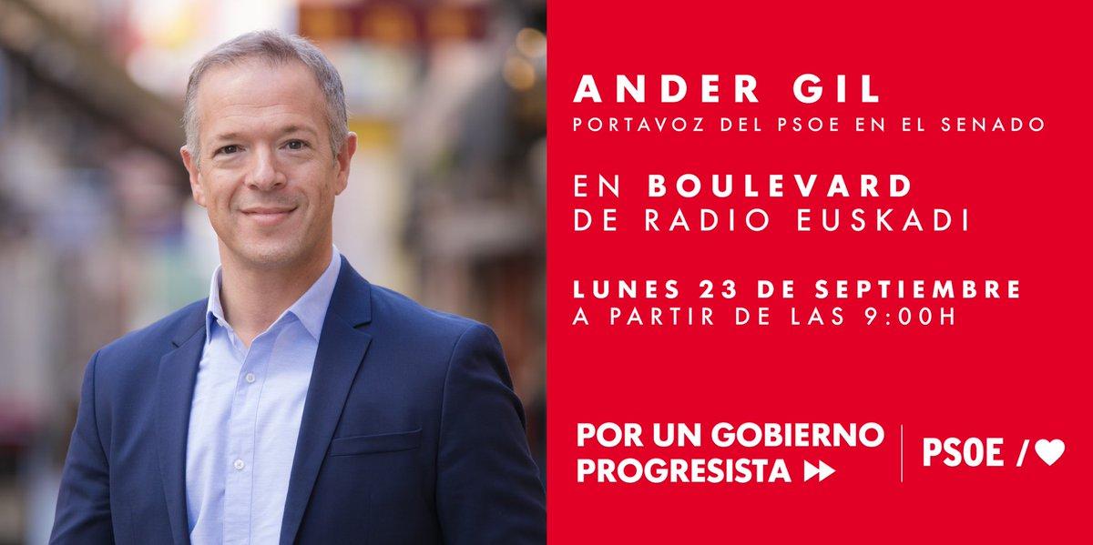 Os dejamos la #Agenda para mañana lunes. ⬇️⬇️⬇️⬇️⬇️⬇️⬇️⬇️⬇️ 📻@Ander_Gil participa a partir de las 09:00h en @Boulevardeitb en @radioeuskadi 📺@oscar_puente_ estará a partir de las 09:15h en @EspejoPublico 📺@Adrilastra interviene a partir de las 13:30h en @DebatAlRojoVivo