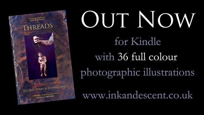 It's two weeks since our very first book from 2016, Threads, a #Poetry and #photography collaboration by  @nathanevansarts and  @Justin_Writer, became available for Kindle and e-readers with all the original illustrations for just £1.99 https://amzn.to/2kAPPGm