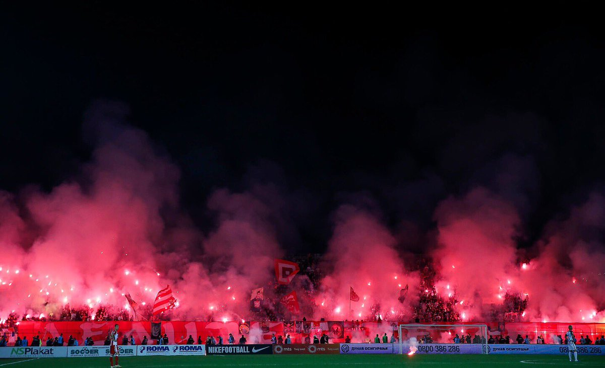 Just your normal Eternal #Belgarde Derby. Today it was all of #Partizan ⚫️🔴🔥💥🇷🇸 https://t.co/tDfYD1TXC0