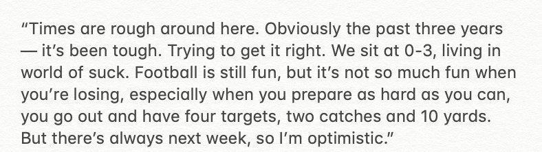 Emmanuel Sanders Has Brutally Honest Quote About Team's 0-3 Start
