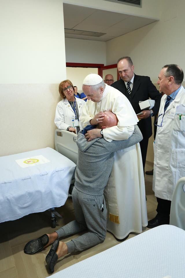 Francis only cares about bodies, not souls. The Antichrist will also hug people and play the Great Humanitarian. Remember, it's supposed to be a *deception*...