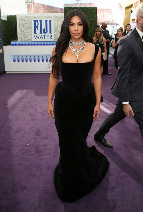 Kim arriving at the Emmy's in Los Angeles, CA on September 22, 2019.