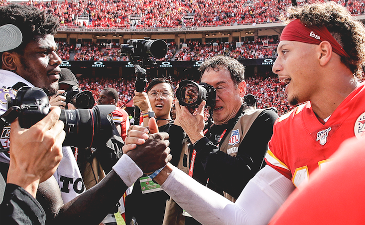 What a game. What a matchup. 🤝 Lamar and Mahomes live up to the hype.