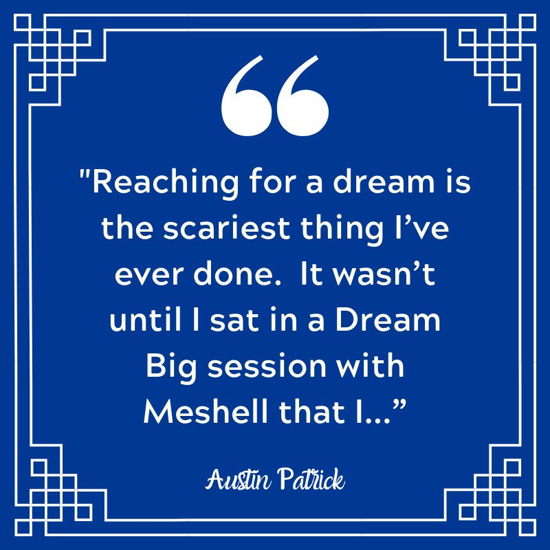 Reaching for a dream is the scariest thing I've done. It wasn't until I sat in a Dream Big session with Meshell Baker that I had to face the truth that I was a coward. ~... #womenofinfluence #womeninbusiness #goalsetting #sales #nasp #naspcpsp #speaker #salessuccess #successstory