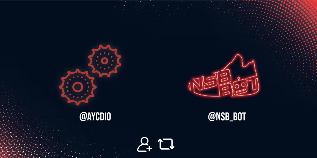 HUGE GIVEAWAY   We are offering you the chance at one of the best AIO bots on the market!   Rules:  Follow @NSB_bot  RT  Tag a friend   Prizes:  1x NSB 2.0 copy 2x AYCD Lifetime copies  Goodluck! Ends on the 31st! <br>http://pic.twitter.com/R45mXqXpzD