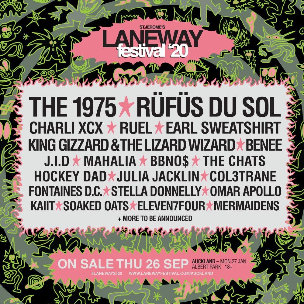 jumping on the Laneway train for one show in Auckland 😎tix go on sale this week here -https://lanewayfestival.com/auckland