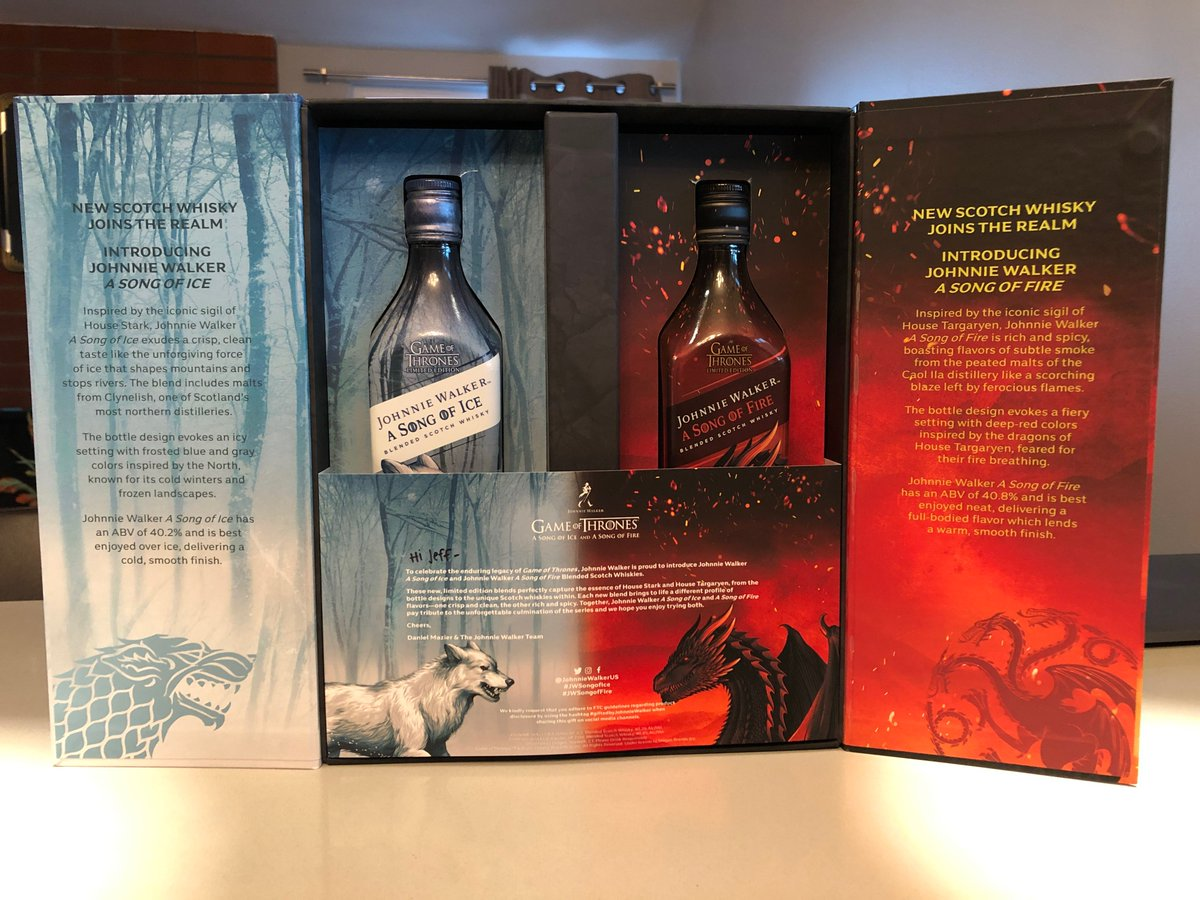 Another tough day ... spending the afternoon preview tasting these for an upcoming SCI FI story. #GiftedbyJohnnieWalker #jwsongoffire #jwsongofice #Whisky<br>http://pic.twitter.com/PhjQi0Mhti