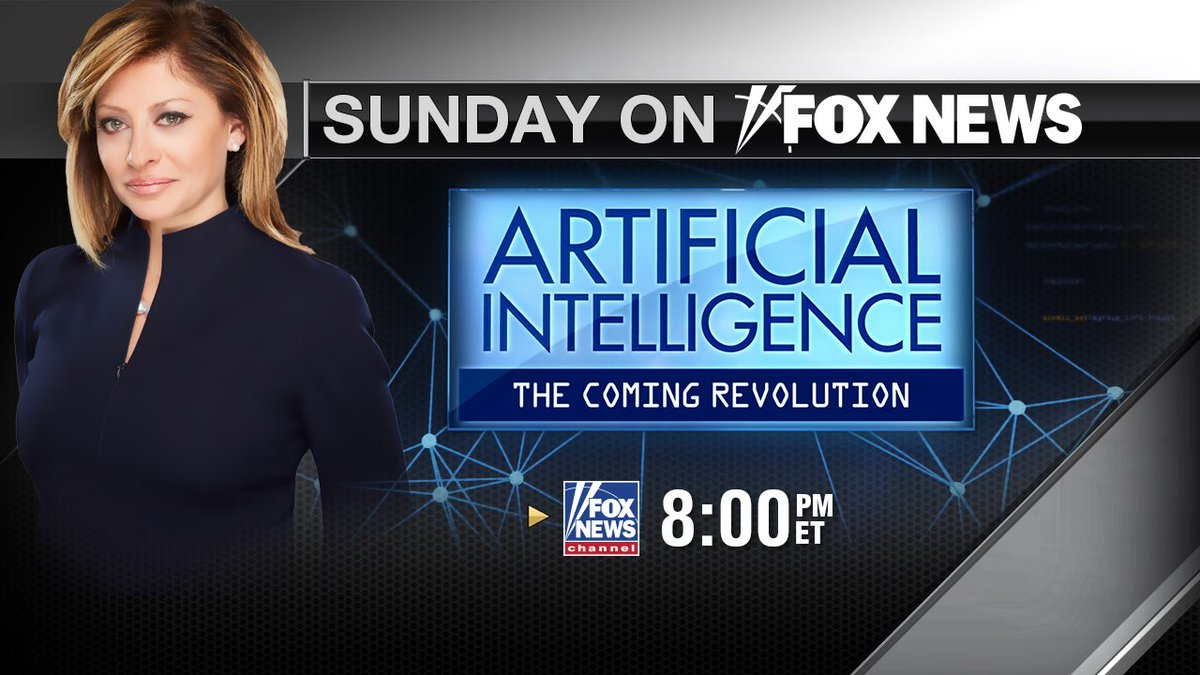 Join me #Tonight 8pm et @FoxNews #ArtificialIntelligence 1-hour special<br>http://pic.twitter.com/cEosO7ZGYn