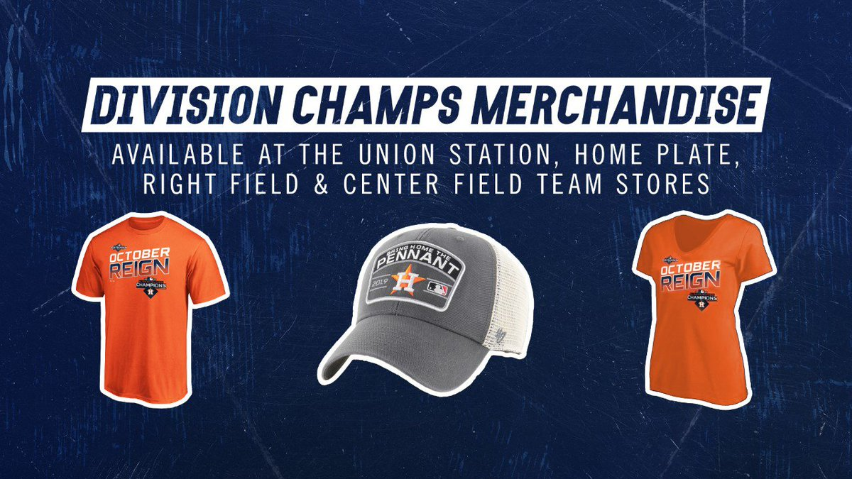 The #Astros Team Store All-Day All-Night Shopping Extravaganza is on NOW!  Pick up AL West Champ gear from now until 7pm tomorrow. We'll be open all night with giveaways every hour, including a grand prize of a $500 shopping spree! <br>http://pic.twitter.com/F1tD2diLnq