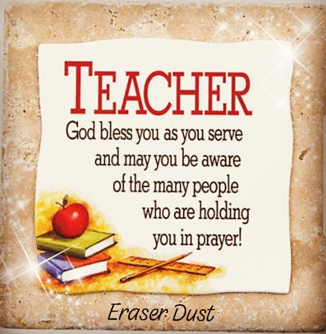 We just wanted to let you know that you're in our prayers.  ERASER DUST truly appreciates all that you do for the children in our beautiful city 😍 Your hard work & dedication is definitely keeping #ElPasoStrong.  Thank you ❤💛💙 #prayers #teachers #Godblessyou
