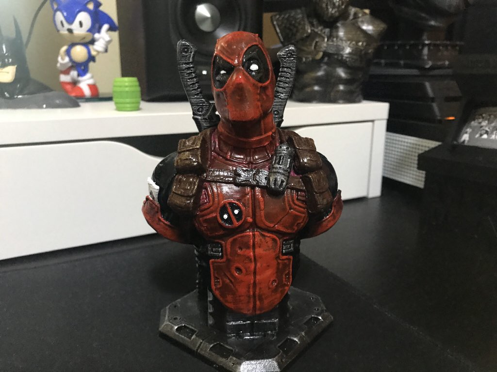 Lucas Releasethesplintercell On Twitter I M Getting The Hang Of This Whole Painting Thing Here S A Deadpool Bust That I Printed And Painted Today 3dprinting Deadpool Https T Co 2da5jfs9te