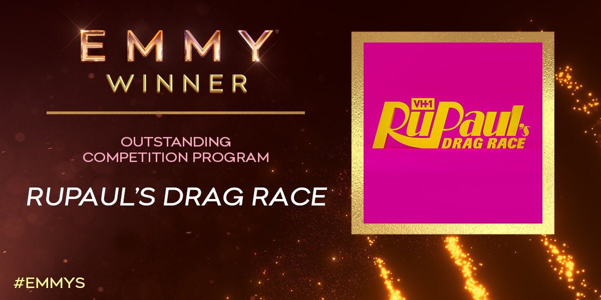 RuPaul's Drag Race wins #Emmy winner for 'Outstanding Competition Program' <br>http://pic.twitter.com/f0eunV5UXs