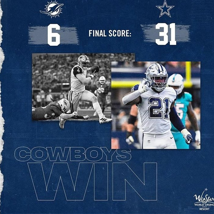 @dallascowboys #CowboysNation what a game keep it up★ #ElPasoStrong #elpasotx915 #MIAvsDAL