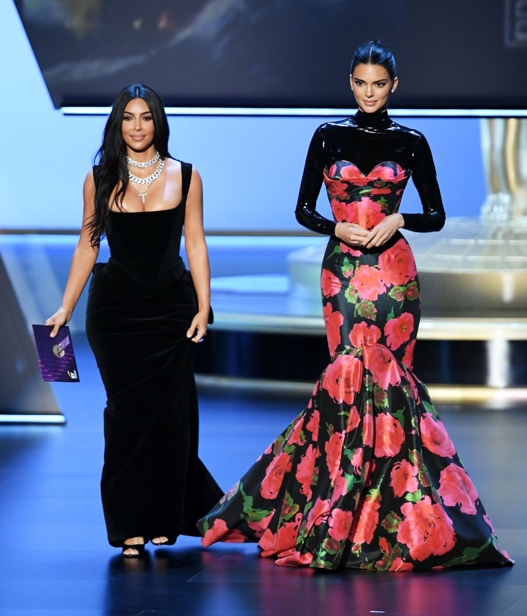 Kim & Kendall presenting at the Emmy's in Los Angeles, CA on September 22, 2019.