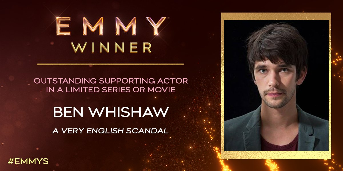 And the #Emmy goes to Ben Whishaw (A Very English Scandal / @PrimeVideo) for Supporting Actor in a Limited Series or Movie! #Emmys<br>http://pic.twitter.com/JAtyR8Sw2W