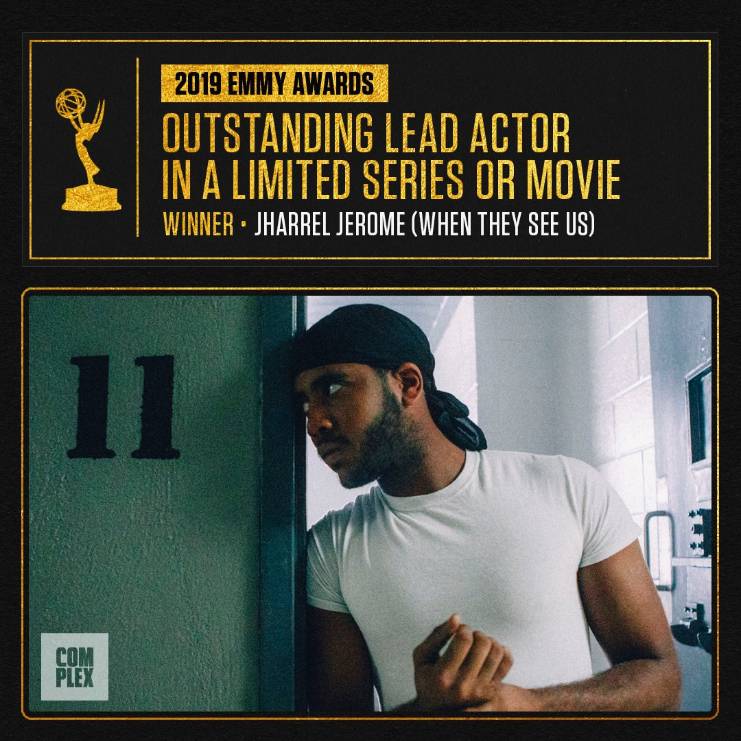 THE EMMY FOR LEAD ACTOR IN A LIMITED SERIES GOES TO JHARREL JEROME FOR WHEN THEY SEE US !!!!