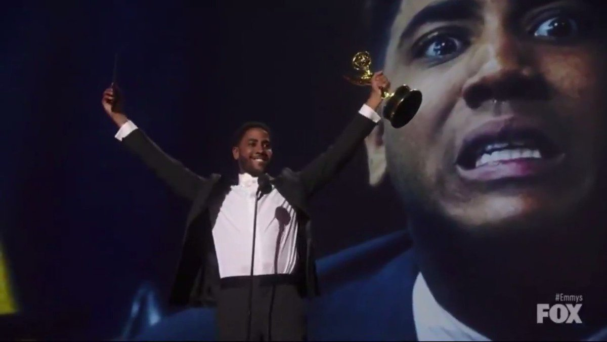 Jharrel Jerome thanks The Exonerated 5 in his acceptance speech for #WhenTheySeeUs #Emmys #Emmys2019