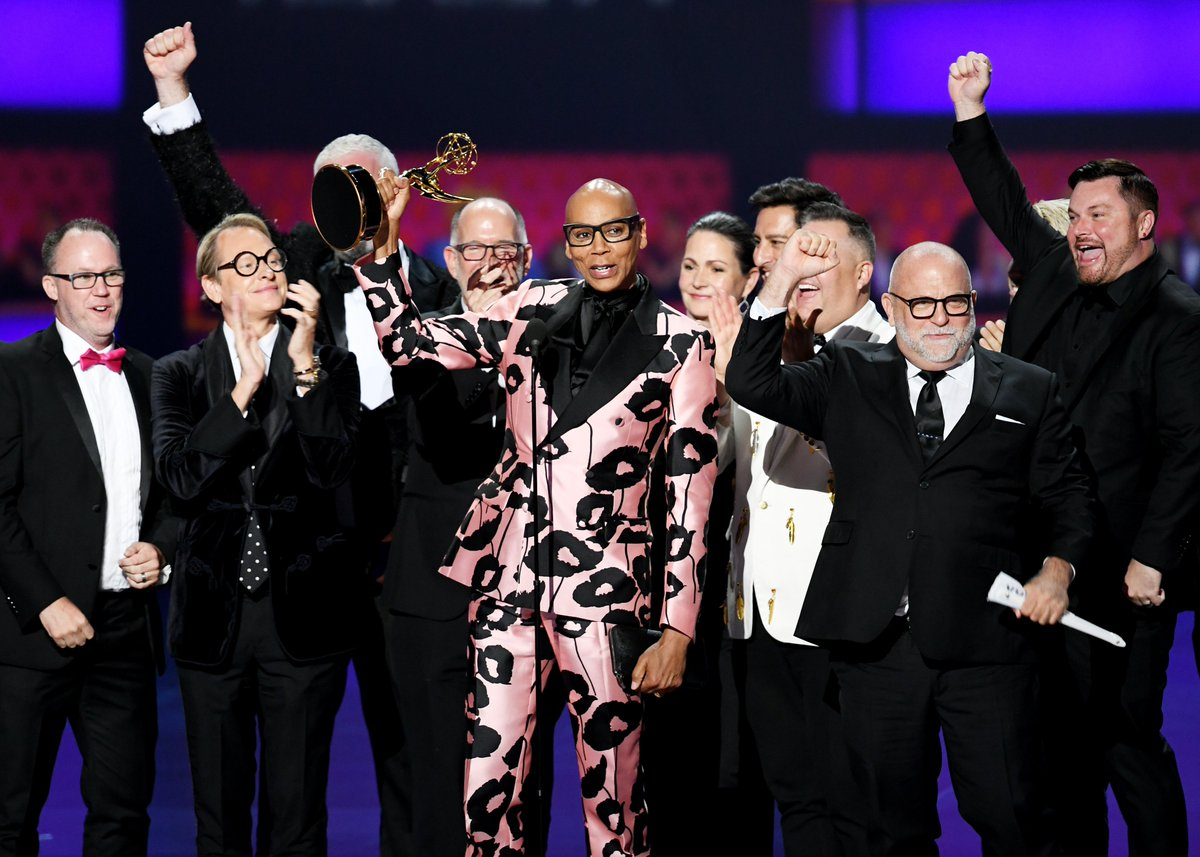 Yas gawd!  Condragulations to the whole team of #DragRace for snatching the Emmy for Outstanding Reality-Competition Program, and thank YOU for making our show the glamorous extravaganza we all love!!!  #Emmy2019<br>http://pic.twitter.com/IbkONhc7Vm