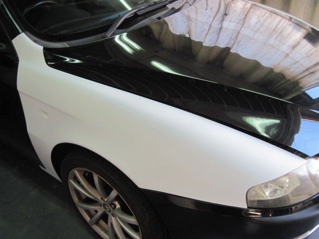 アルファロメオ147 あちこちが塗装劣化によりっぽくなってしまった修理 #タキザワ自動車 #アルファロメオ #塗装劣化 #塗装剥離 #塗装修理 #鈑金塗装 #松戸 #外車修理 #ルーフ塗装