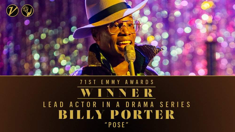 #Emmys: Billy Porter wins best lead actor in a drama series for #Pose  http:// bit.ly/2V9VuB7     <br>http://pic.twitter.com/GKMPxPuI39