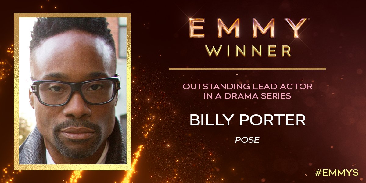 First-time #Emmy nominee and now WINNER @TheeBillyPorter wins for Lead Actor in a Drama Series for @PoseonFX! #Emmys<br>http://pic.twitter.com/JuOqEGcFvB