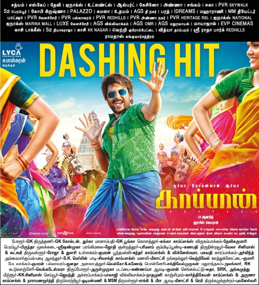 #Kaappaan tops the #Chennai City Box office for the 1st weekend with a gross of ₹ 2.95 Crs.. Excellent.. <br>http://pic.twitter.com/jM0UnxjYaY