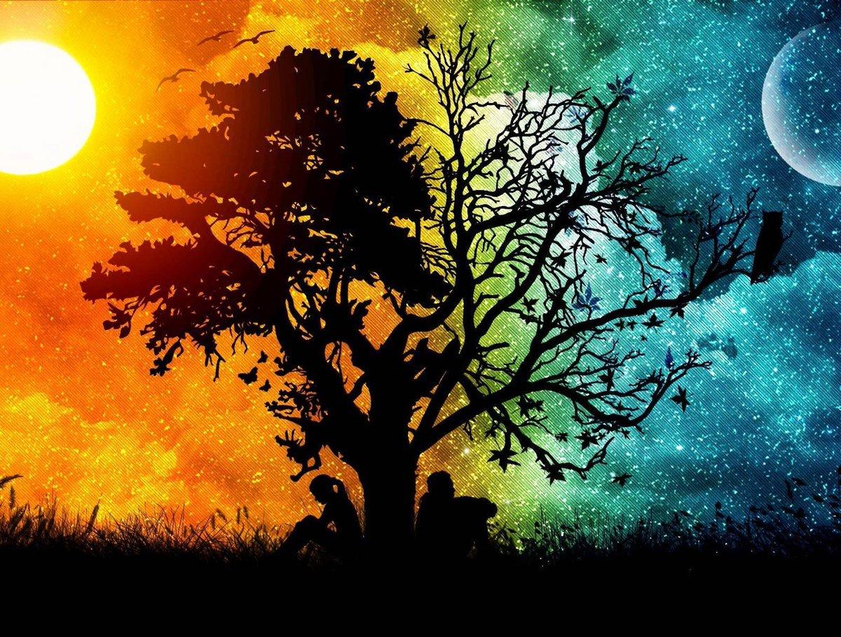 Сказочная картинка дня и ночи
