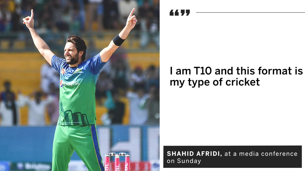 Espncricinfo On Twitter Shahid Afridi Will Turn Out For Qalandars One Of The Two New Teams In This Year S T10 League Https T Co Tww5fkuh6c Https T Co Jtilbcnyaa