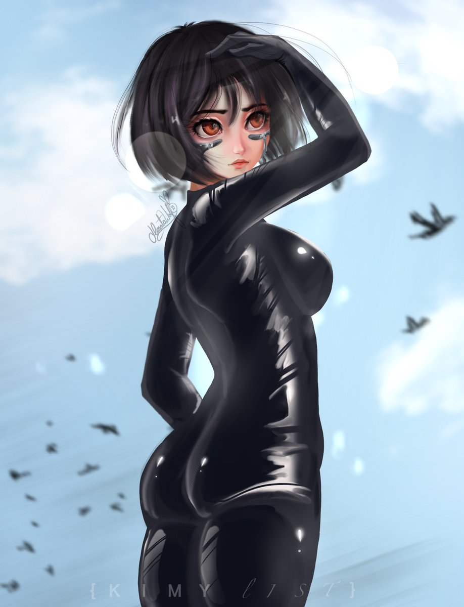 Gally/Alita - Collab with @kimy_list    It is the first time I have collaborated with this wonderful artist.  #Collab #KimyList #Anime #Alita #BattleAngel #GUNNM #Hinata_Wolf #Hinata1495 #animeretro #Girl #semirealist #softshading #drawing #illustration #anime_girl #fanartpic.twitter.com/yN73nL3bEt