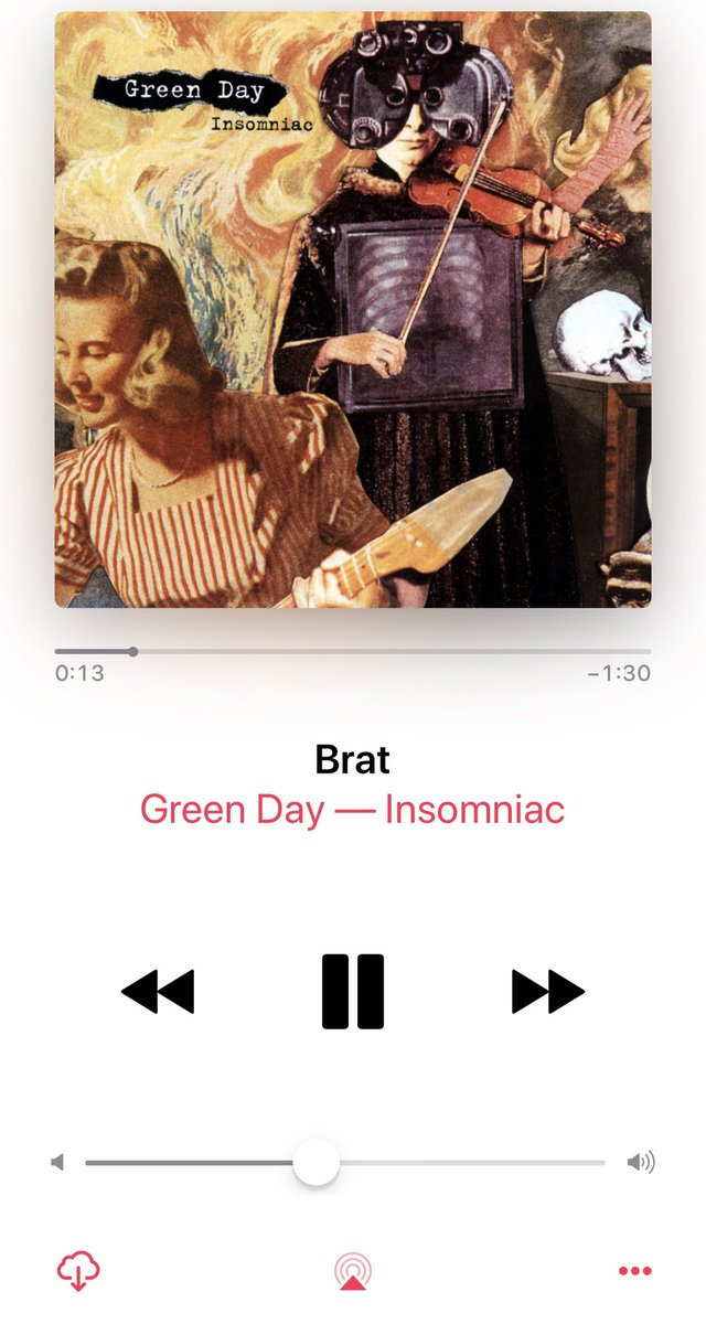 Throwback listening to insomniac by @GreenDay #mood I can't sleep