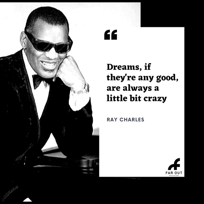 Happy birthday to legend Ray Charles! Charles died on 10th of June 2004, aged 73