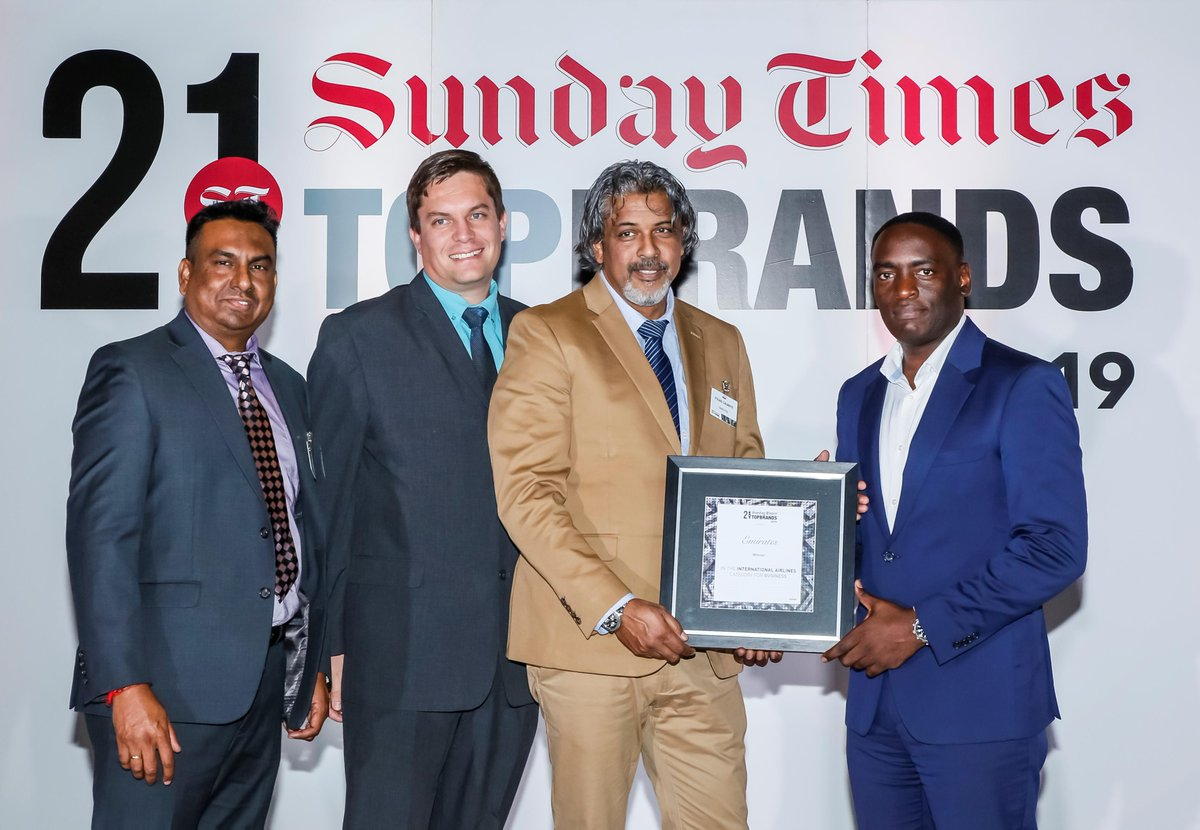 It was an honour to be recognised as the Best International Airline at the 2019 @SundayTimesZA Top Brands Awards. bit.ly/2IlTDUJ