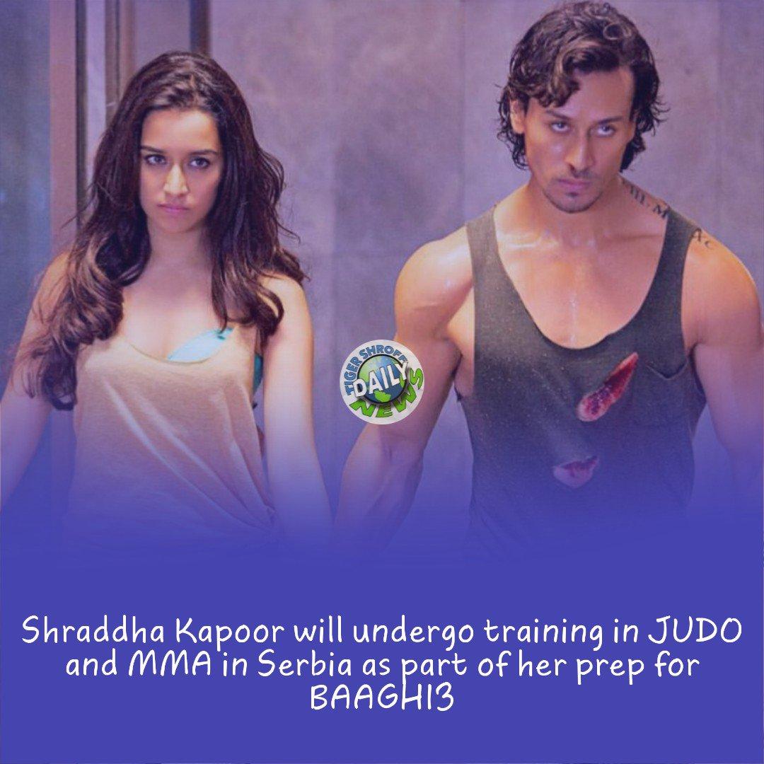 Shraddha Kapoor will undergo training in #JUDO and #MMA in Serbia as part of her prep for #BAAGHI3.  @iTIGERSHROFF #TigerShroff #War @shraddhakapoor #TeamTiger