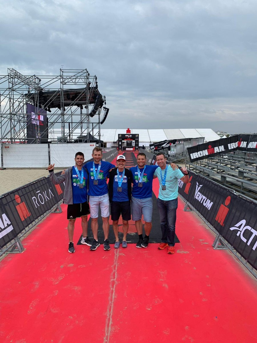 What an effort 💪 A huge well done and congratulations to our very own Abel, Neil, Anton, Josh and Tom for completing Iron Man Italy over the weekend. Another brilliant challenge, all in the name of charity. 🏊‍♂️🚴‍♂️🏃‍♂️  #ironmanitaly #ironman