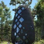 Image for the Tweet beginning: This NASA-award-winning cabin was built