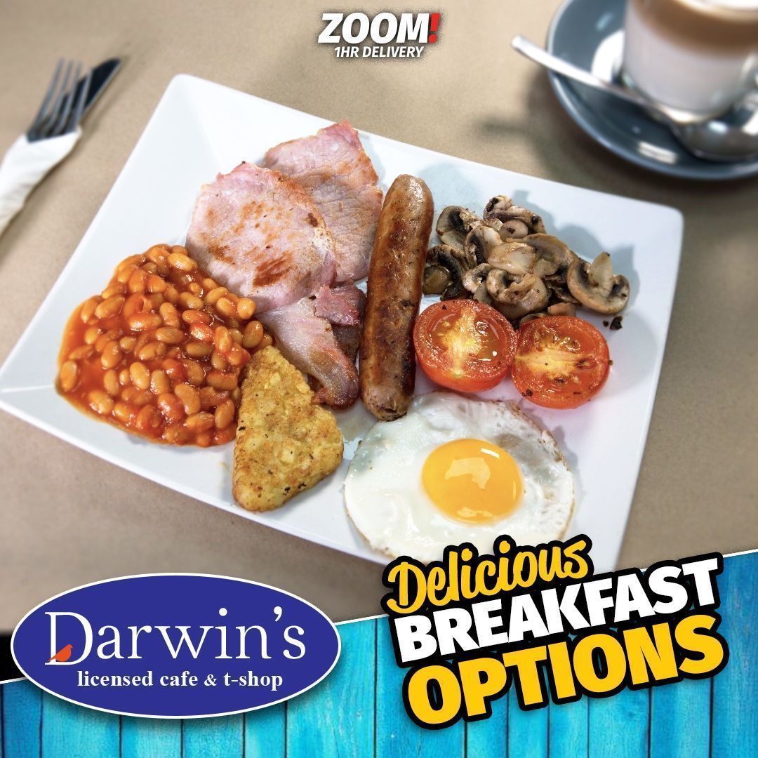 It's time for a tasty breakfast from Darwins!  Get ordering from 9.30am by downloading the APP.  Android: https://buff.ly/2zVIVhM⠀ Apple: https://buff.ly/2WYztJE⠀ ⠀ #zoom #zoom1hr #shrewsbury #Eatlocal #love #lovefood #instafood #Delivered #FastDelivery #breakfast