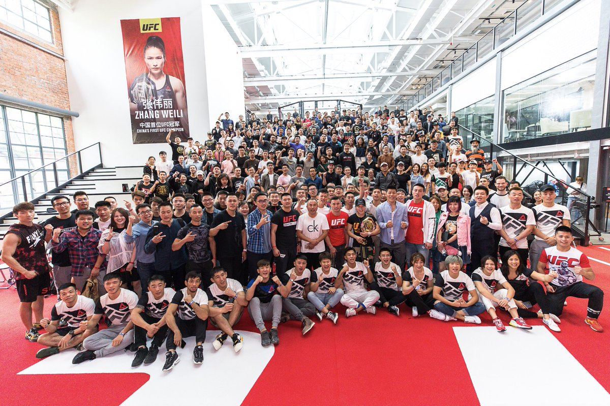 The @ufc continues to establish strong relationships between its athletes and fans.   Yesterday in Shanghai more than 400 fans turned up for an exclusive meet & greet with current Chinese champion Zhang Weili and other athletes.   #ufc #China
