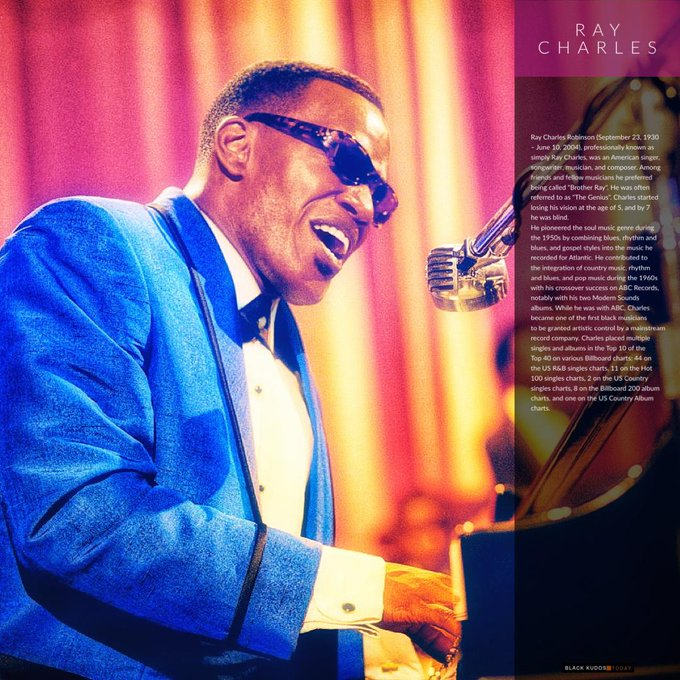 Happy birthday to Ray Charles.