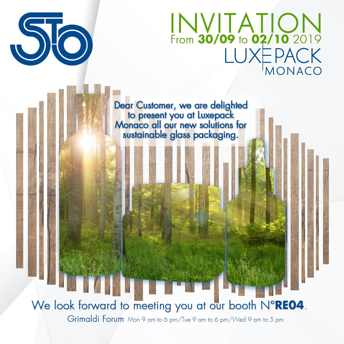 We are delighted to be presenting our new solutions for sustainable glass packaging at LUXE PACK Monaco, we hope to see you there! .  #theartofmakingglass #stoelzle #glass #luxe #luxepack2019 #luxepackmonaco2019 #luxepack #monaco #sustainability